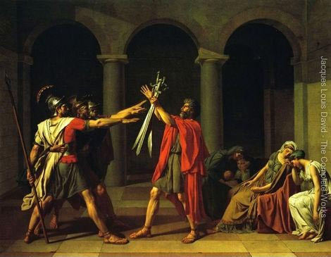 Jacques Louis David - Oath-of-the-Horatii