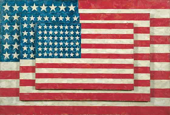 Jasper-Johns-Three-Flags-1958