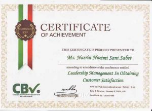 Certificate--Leadership-Management-in-Obtaining-Customer-Satisfaction-آموزشگاه نقاشی نعیمی ثانی